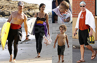 Pictures of Matthew, Levi, Vida McConaughey and Vida Alves at the Beach in Malibu