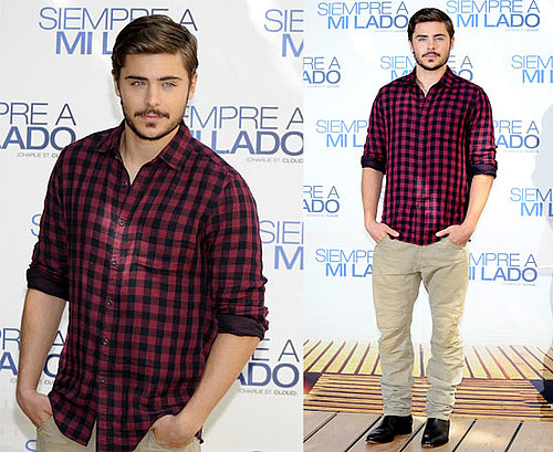 Pictures of Zac Efron in Madrid Promoting Charlie St. Cloud