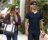 Slide Picture of Tobey Maguire and Jennifer Meyer on Their Way to the Farmers Market in LA