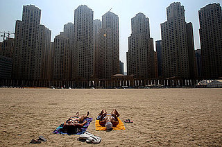 Women Sunbathing in Dubai