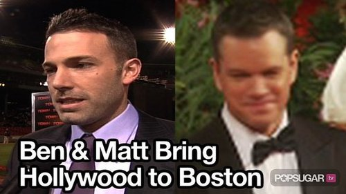 Video of Ben Affleck and Matt Damon at Fenway Park For The Town