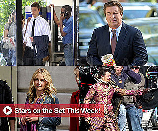 Pictures of Justin Timberlake, Alec Baldwin, Becki Newton, Mandy Moore on Set