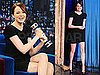 Pictures of Emma Stone With Shake Weight on Jimmy Fallon