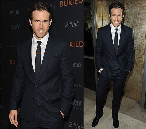 Pictures of Ryan Reynolds Showing Off His Movie Buried