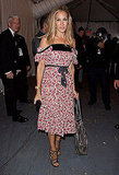 Sarah Jessica Parker, looking entirely coquettish on her way to Diane von Furstenberg.