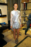 Leighton Meester in Emilio de la Morena at Roger Vivier's Fashion's Night Out soiree.