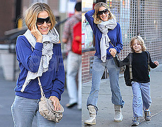 Pictures of Sarah Jessica Parker and James Wilkie Walking to School in NYC