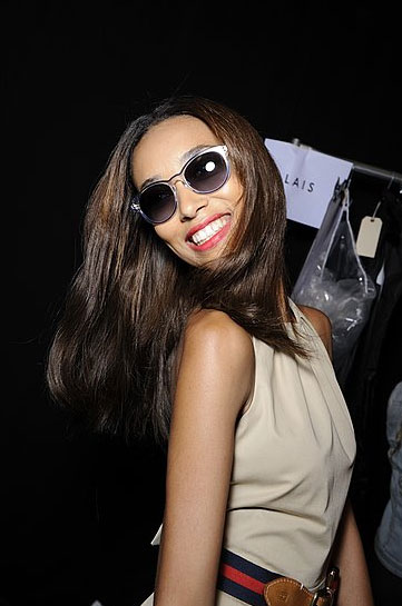 Big smiles, major shades at Tommy Hilfiger.