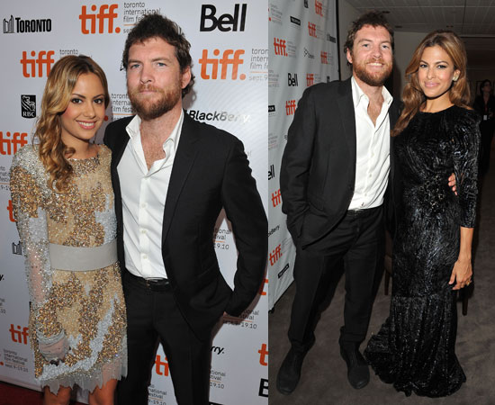 Eva Mendes, Sam Worthington and Girlfriend Natalie Mark at Last Night Premiere at Toronto Film Festival