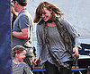 Slide Picture of Milla Jovovich and Ever in Germany