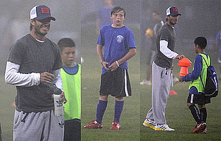 Pictures of David Beckham Watching Brooklyn's Soccer Game