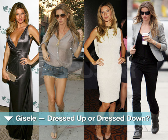 Which Gisele Do You Prefer — Dressed Up or Dressed Down?
