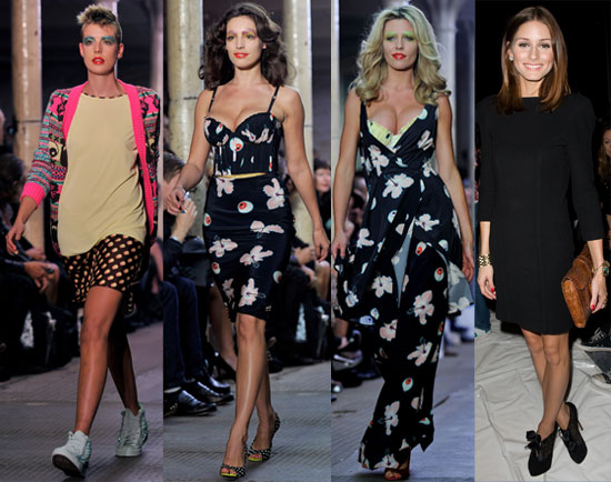 Pictures of Pregnant Abbey Clancy, Agyness Deyn, Kelly Brook at Giles at London Fashion Week Plus Bjork, Olivia Palermo,