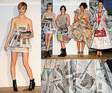 Eco-Friendly Dresses Made Out of . . . Newspaper!