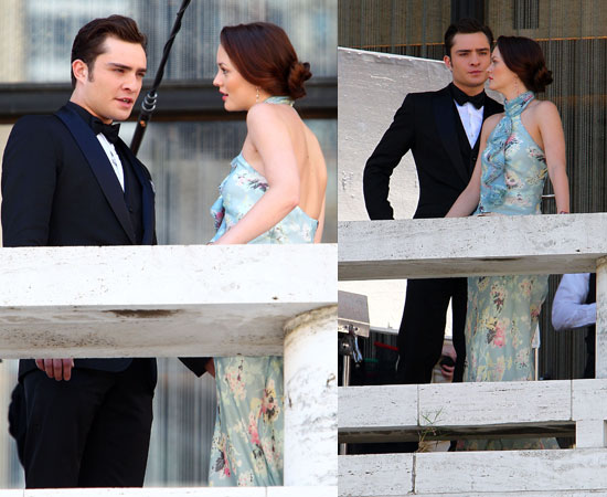 Ed Westwick and Leighton Meester Filming Gossip Girl in New York