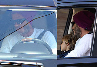 Pictures of David and Romeo Beckham in LA