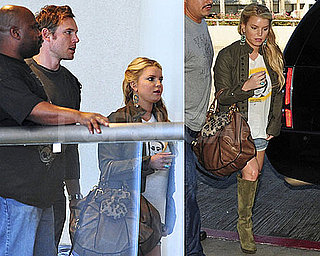Pictures of Jessica Simpson and Eric Johnson at LAX 2010-09-28 05:00:00