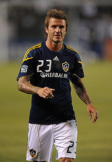 Pictures of David Beckham Playing Soccer in LA
