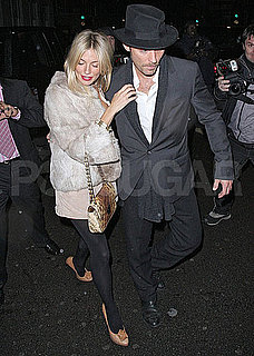 Pictures of Sienna Miller and Jude Law Getting Dinner With Jerry Bruckheimer in London