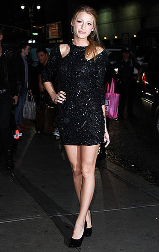 Blake Lively Heading in to The Late Show to Promote The Town in NYC