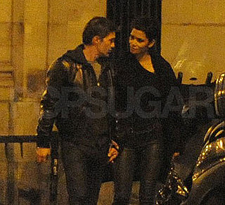 Pictures of Halle Berry and Olivier Martinez Out at Night in Paris