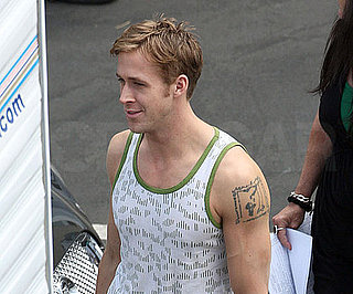 Slide Picture of Ryan Gosling on Set of Drive 2010-09-29 16:00:00