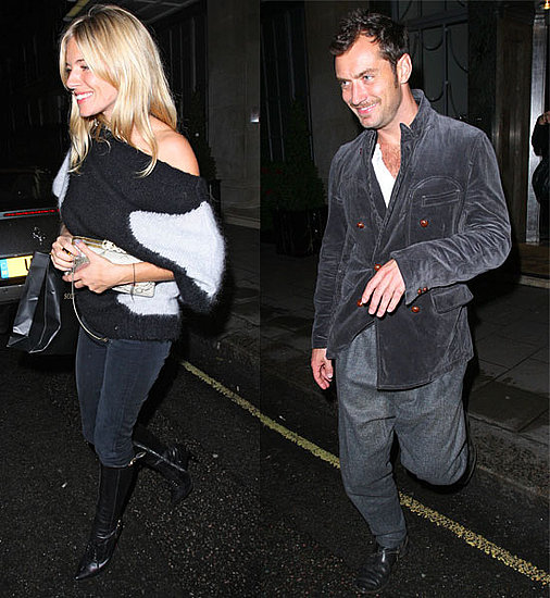 Pictures of Sienna Miller and Jude Law Out With Friends in London