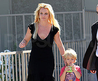 Slide Picture of Britney Spears and Jayden James at Gym in LA