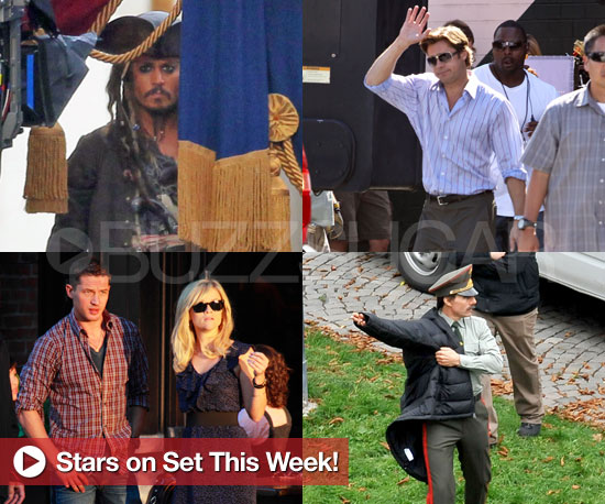Pictures of Tom Cruise, Brad Pitt, Reese Witherspoon, Johnny Depp, and More on Film Sets
