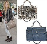 There are two hot bags out right now — Roberto Cavalli's Diva and CC Skye's Onie messenger.