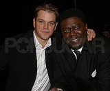 Matt Damon and Bernie Mac connected at the February 2005 ShoWest awards in Las Vegas.