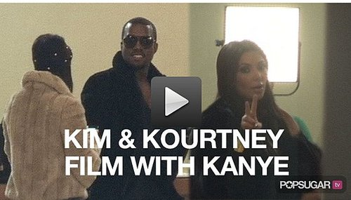 Video of Kim Kardashian Filming New Show With Kourtney Kardashian and Kanye West