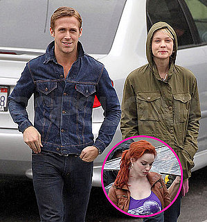 Pictures of Ryan Gosling, Carey Mulligan, and Christina Hendricks Shooting Drive in LA