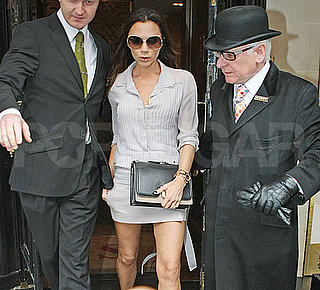 Pictures of Victoria Beckham Leaving Scott's Restaurant in London