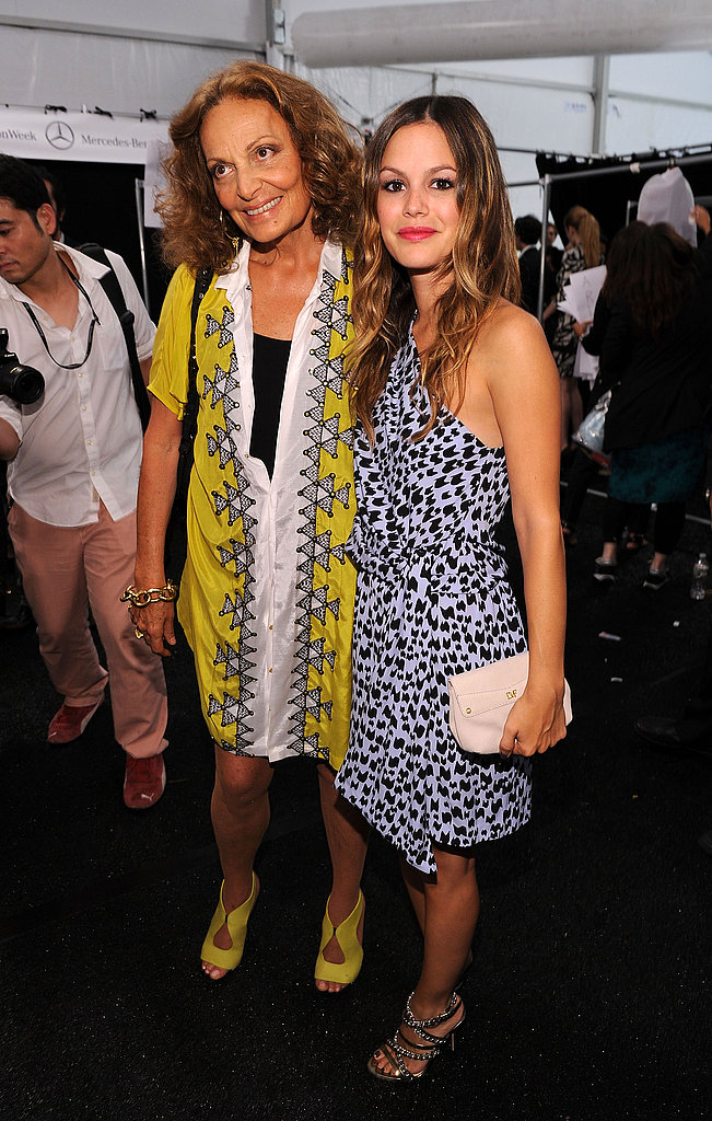 To-die-for prints! Rachel Bilson joins Diane von Furstenberg backstage.