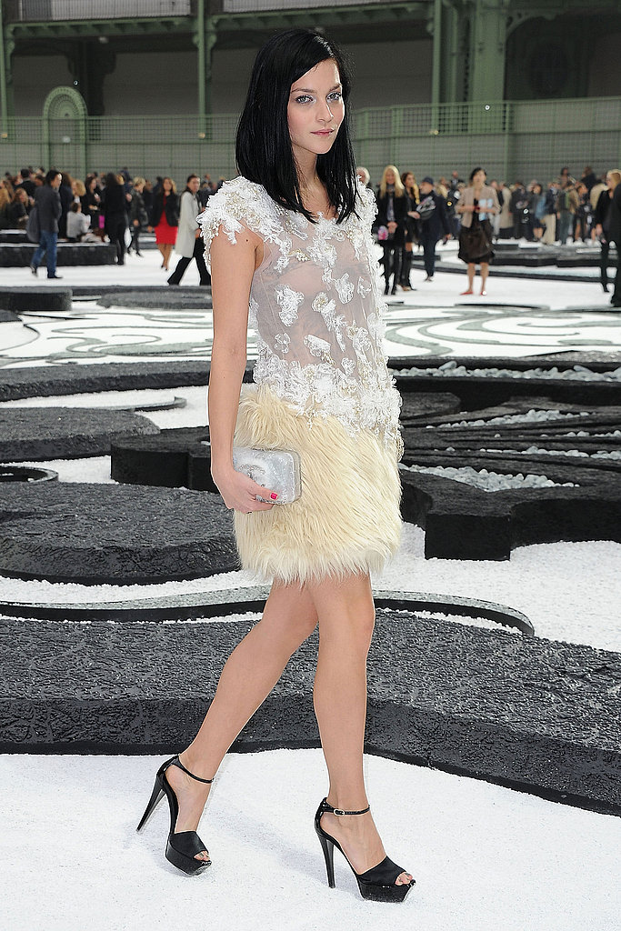 Leigh Lezark is just heaven at Chanel in embellished sheer.