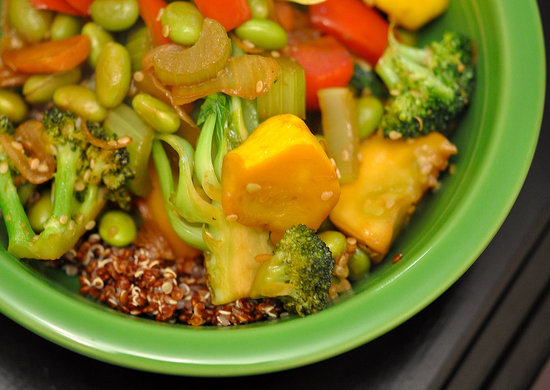 Vegetarian Stir-Fry With Quinoa