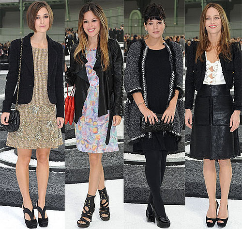 Pictures of Celebs At the 2011 Spring Paris Fashion Week Chanel Show Rachel Bilson Keira Knightley Pregnant Lily Allen