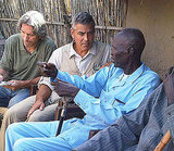 George Clooney Visiting Sudan With Ann Curry