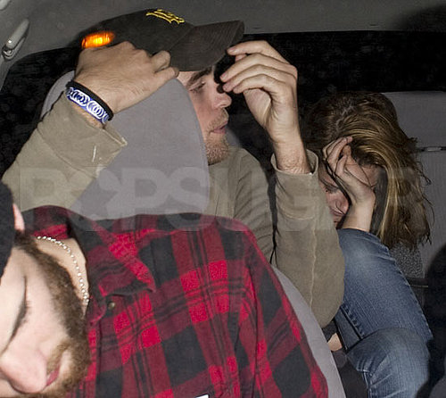 Pictures of Robert Pattinson and Kristen Stewart Leaving the Troubador in LA