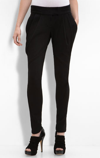 L.A.M.B. Pleated Ponte Knit Pants ($198)