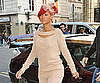 Slide Picture of Rihanna Wearing Peach Arriving at Jean Paul Gaultier Store in Paris