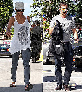 Pictures of Halle Berry and Olivier Martinez Together Close to Her Home in LA