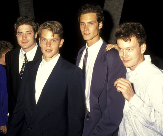 School Ties costars Brendan Fraser, Matt Damon, and ...