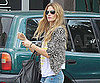 Slide Picture of Gisele Bundchen Wearing a Leopard-Print Jacket in Miami