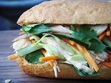 Vietnamese Chicken and Cabbage Slaw Sandwich (Bánh Mì)