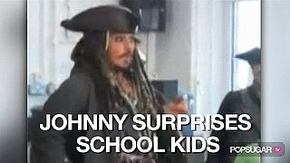 Video of Johnny Depp Visiting a Classroom as Captain Jack Sparrow 2010-10-07 16:00:00