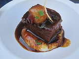 This short rib was melt-in-your mouth tender and the thick bed of potatoes was creamy — it was a super decadent taste.