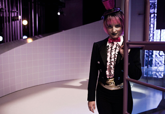 "Quinn as a ""Time Warp"" dancer"
