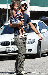 Pictures of Gabriel Aubry and Nahla in LA